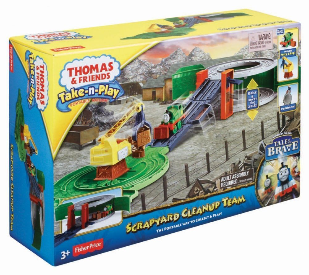 Play Toys For Grown Ups : Thomas friends take n play scrapyard clean up team playset
